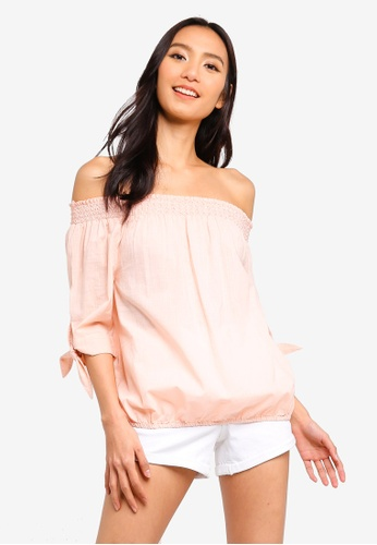 OVS orange Cotton Blouse With Bare Shoulders EF517AA524337BGS_1