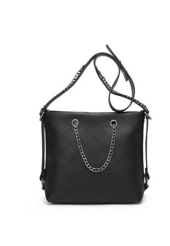 Lara black Women Medium Lingge Pattern Sling Bag 4D15BACA70AA3AGS_1