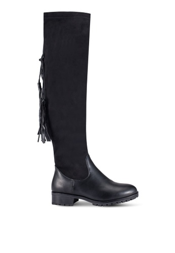 BETSY black Calf Heeled Boots BE207SH0REQ8MY_1