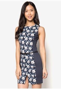 Collection Front Slit Pencil Dress