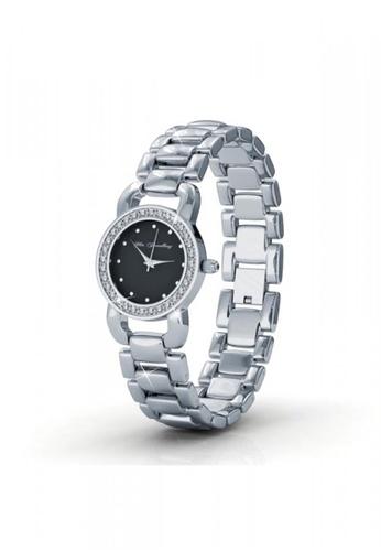 Her Jewellery black Swarovski® Crystals - Luxx Watch (Black)(18K White Gold Plated) Her Jewellery HE581AC0RD8JMY_1