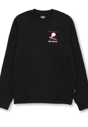 izzue black Graphic print sweartshirt 483C6AA0116937GS_1
