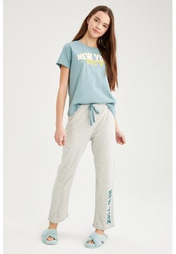 DeFacto grey Woman 2-pieces Homewear Top & Bottom Set 01EB5AA2009937GS_1
