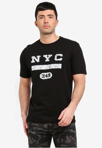 Cotton On 黑色 短袖印花T恤 AA7CDAA5223818GS_1