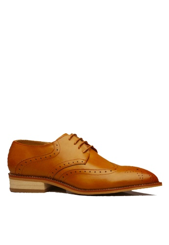 Twenty Eight Shoes brown Leather Hidden Heel Brogue Business Shoes VMF1911H B0F16SHDCB0173GS_1