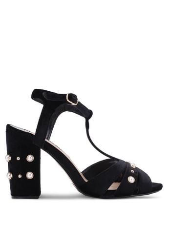 Dorothy Perkins black Black Bonnie Heeled Sandals DO816SH0S4T3MY_1