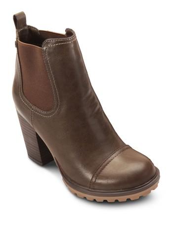 esprit 折扣側彈性帶高跟短筒靴, 女鞋, 鞋