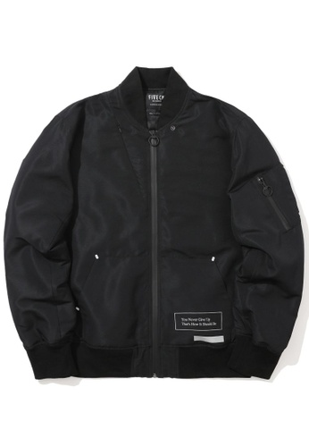 "Fivecm black ""Made In Factory"" bomber jacket E7E03AADF08244GS_1"