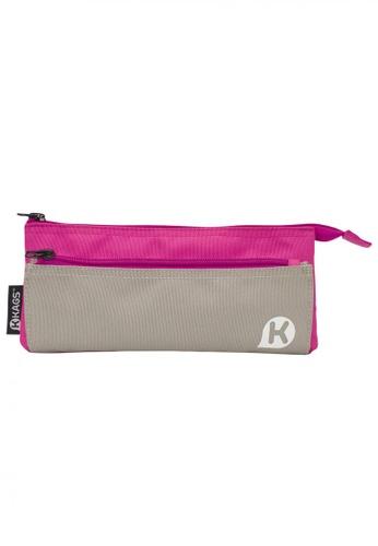 Kags pink KAGS Ashton Series 5-Pocket Pencil Case - Pink 126C1KC0E2A2C8GS_1