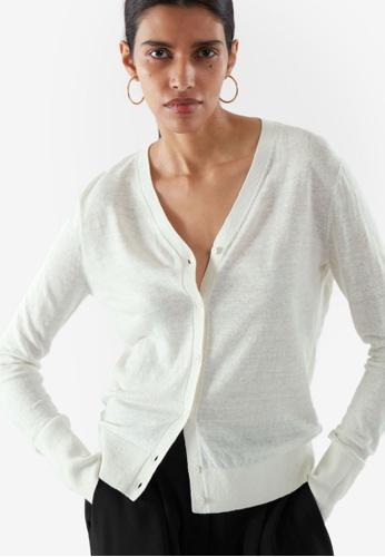 COS white Linen Cardigan E17DEAA2F12967GS_1