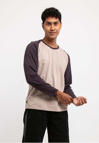 FOREST beige Forest 100% Cotton Round Neck Long Sleeve Plain Tee T Shirt Men - Baju T Shirt Lelaki Lengan Panjang - 23659 - 15Beige(Khaki Beige) 7211BAACE489C8GS_1