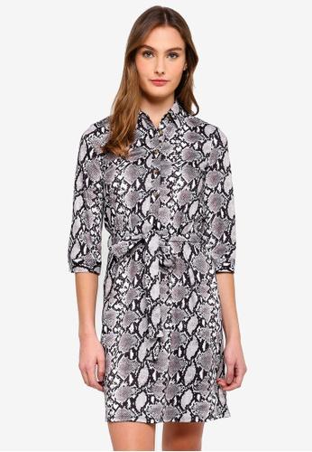 bc23abd255a5 Buy Dorothy Perkins Snake Print Shirt Dress   ZALORA HK
