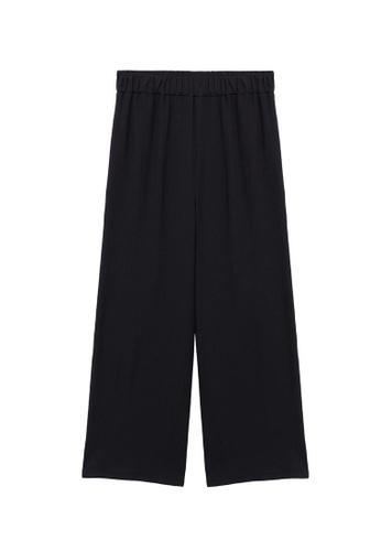 MANGO KIDS black Fluid Culotte Trousers 76A78KA827F4DFGS_1