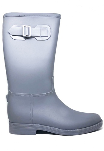 Twenty Eight Shoes grey Long Rain Boots MM21A C1A63SH836A9E5GS_1