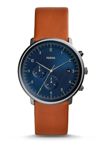 Fossil brown Chase Timer Chronograph Watch FS5486 4B841AC908ACEBGS_1