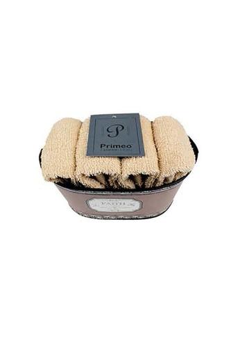 Primeo beige Premium 1Beige Hand Towel Set With Basket 300gsm Soft High Absorbent Beige Set of 4 AAF1AHL5510B56GS_1