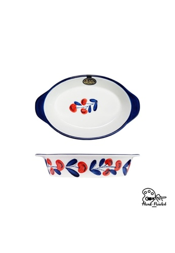 Table Matters multi Holiday Berry - Hand Painted 9 inch Baking Dish with Handles 29BBFHLC254311GS_1