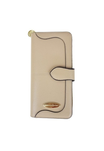 British Polo beige British Polo Emboss PU Leather Wallet FEED8AC1CD4DAAGS_1