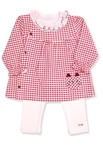 Organic mom red Girls Grid Kitty Home-wear Casual-wear Pajamas E4F5AKA4B0F65DGS_1