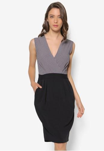 點esprit 澳門點拼接撞色連身裙, 服飾, 洋裝