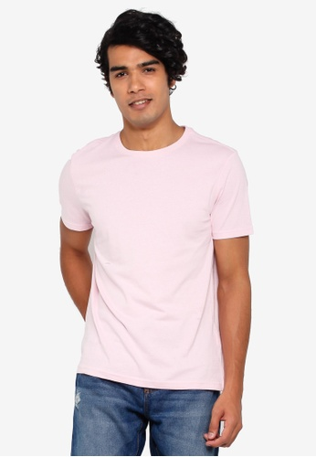 OVS 粉紅色 Basic T恤 52E7DAAF3E9587GS_1