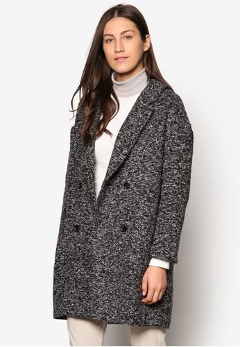 Collection 雙口袋仿羊毛大衣、 服飾、 外套ZALORACollection雙口袋仿羊毛大衣最新折價