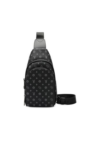Playboy black Logo Crossbody Bag CEDCAACD95326BGS_1