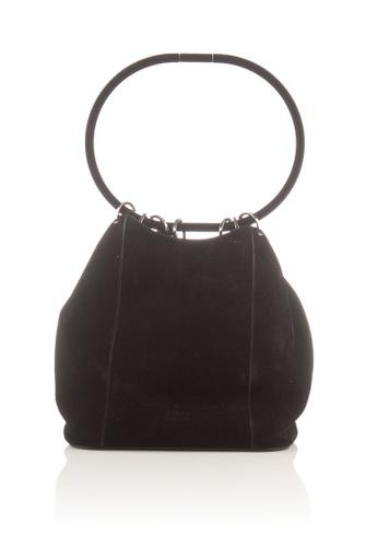 Gucci black Preloved Black Suede Bucket Shoulder Bag B30A3ACE1832BDGS_1