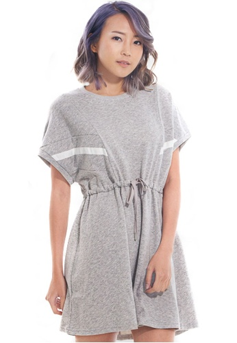 Kitschen grey Sweater Inspired Dress with Waist Tie BBD4AAA89F3A1FGS_1