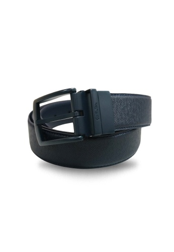 Valentino Rudy blue Valentino Rudy Full Leather Belt VA677AC23AOMSG_1