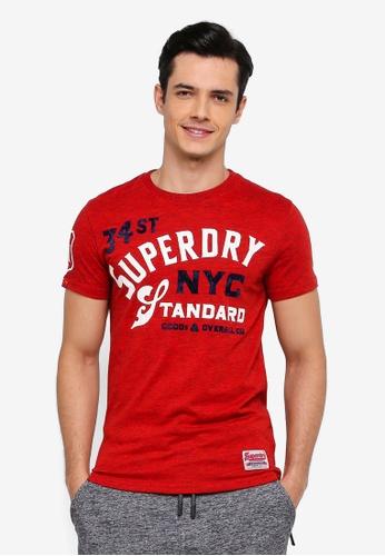 Superdry 紅色 短袖印花T恤 FE365AAB7CCDE8GS_1