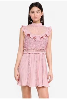 534f475265b True Decadence pink High Neck Sleeveless Ruffle Dress 2F3BDAA7F96348GS 1
