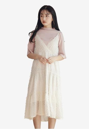 b2aa992dfb08d4 Buy Tokichoi V-Neck Feather Dress Online on ZALORA Singapore