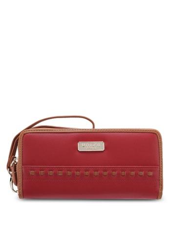 Unisa red Colour Block Ladies Zip-Up Wallet UN821AC0SINWMY_1