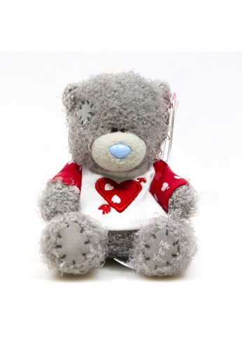"Her Jewellery Me to You Plush Toys -  4"" Tatty Teddy - 4"" Heart & Arrow Tee 02472TH0BDA451GS_1"