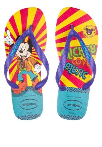 Havaianas multi Mickey 90th Year 1970 Flip Flops 612EESH2A61D60GS_1