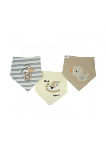 TRENDYVALLEY brown Trendyvalley Organic Cotton Baby Bibs 3 Designs 0B14AKCEB2F1C5GS_1