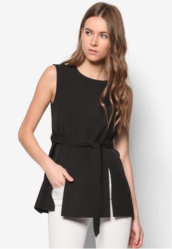 Czalora taiwan 時尚購物網ollection Double Slit Top, 服飾, 服飾