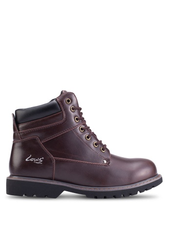 Louis Cuppers red Lace-Up Boots LO977SH59ZKMMY_1