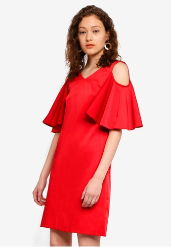 5286f15d732 Buy CLOSET Open Shoulder V-Neck Tunic Dress Online on ZALORA Singapore