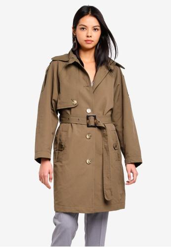 ESPRIT green Woven Regular Coat BC678AA2B055C5GS_1