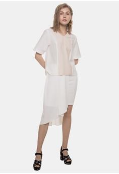 b9690ac9d9 ELLYSAGE white Paneled Colorblock Shirt 72AE0AA60D8DE0GS_1