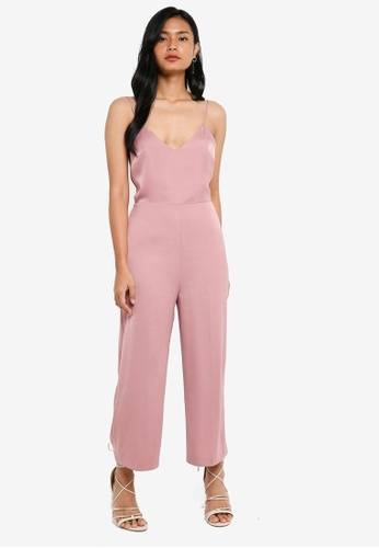 88a378c8c3d5 Buy TOPSHOP Strappy Satin Jumpsuit Online on ZALORA Singapore