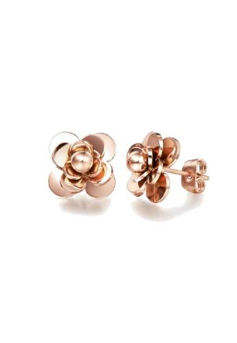 CELOVIS gold CELOVIS - Amrita Camellia Flower Earrings in Rose gold C861EACC229E8BGS_1