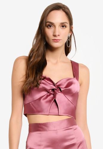 Miss Selfridge pink Pink Bralet Top 5E07CAA2253EE1GS_1