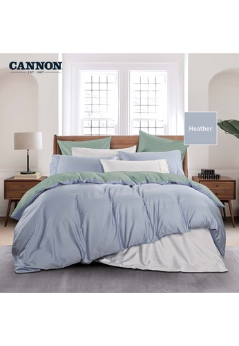 CANNON CANNON Morrison Ceasari - Heather (Fitted Sheet Set). 35141HL7EE92FCGS_1