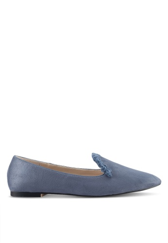 ZALORA grey Fringed Detail Loafers 5A1DDSH395DB22GS_1