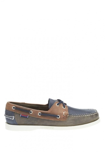 Sebago grey Men's Spinnaker Boat Shoes SE328SH0IW4GPH_1