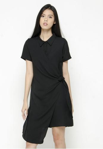 The Executive black Midi Apron Dress B9AE8AA7A21313GS_1