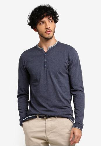 ESPRIT navy Long Sleeve T-Shirt 5C8A7AA8791141GS_1